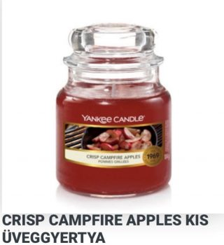 Kis üveggyertya Crisp Campfire Apples