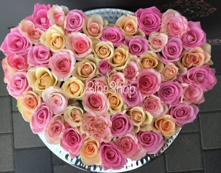 rózsabox vintage rózsaszín