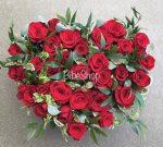 szív alakú rózsabox bordó